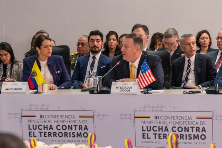 Third Western Hemisphere Counterterrorism Ministerial in Bogota, Colombia.