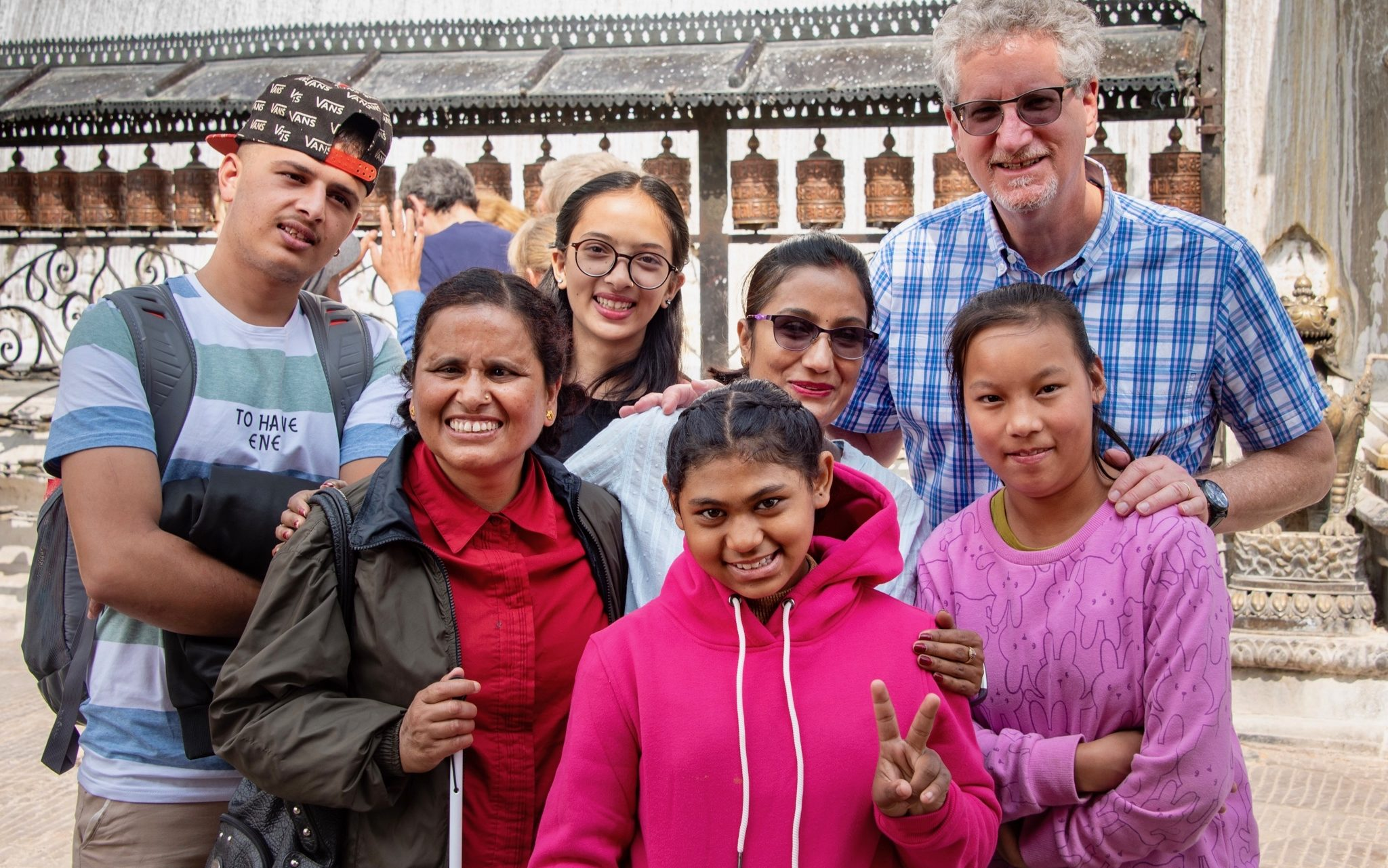 Robert Rose (top Right) visiting Nepal (Photo Credit: Armen Stein)