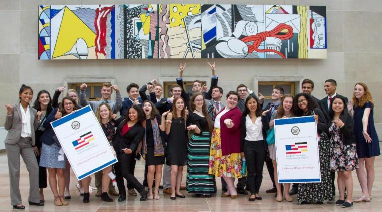 Congress-Bundestag Youth Exchange (CBYX) Participants visit the U.S. Diplomacy Center at the U.S. Department of State. (State Department photo)