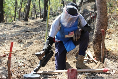 U.S. support enabled The HALO Trust to locate and destroy landmines in Huambo province, Angola. (Photo courtesy of The HALO Trust)