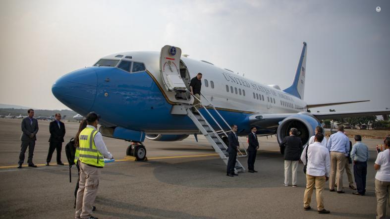 U.S. Secretary of State Michael R. Pompeo arrives in Cucuta, Colombia