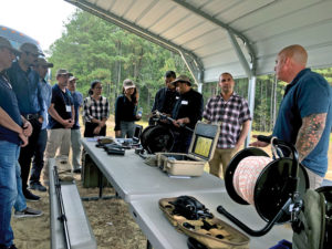 HDTC personnel give a demonstration to CISR's 2019 Senior Managers' Course at Ft. Lee, VA. Photo courtesy of CISR.
