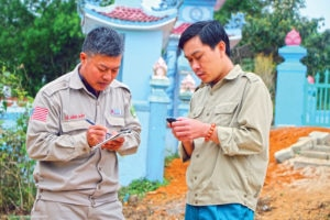 A non-technical survey is conducted in Quang Tri Province, Vietnam. Photo courtesy of NPA.
