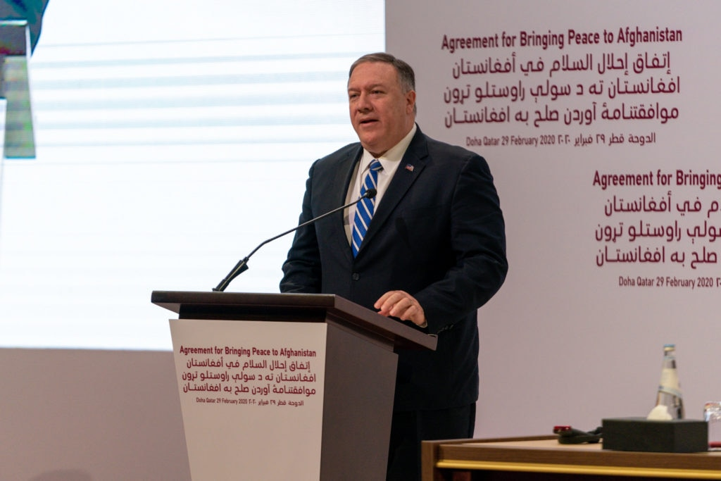 Secretary Pompeo Participates in a Signing Ceremony in Doha
