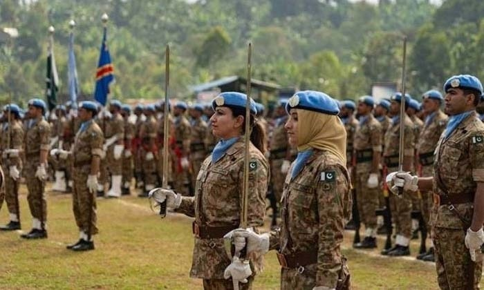 Members of the first-ever Pakistani Female Engagement Team (FET), which is deployed with the United Nations Organization Stabilization Mission in the Democratic Republic of Congo (MONUSCO). Photo courtesy of the U.S State Department.
