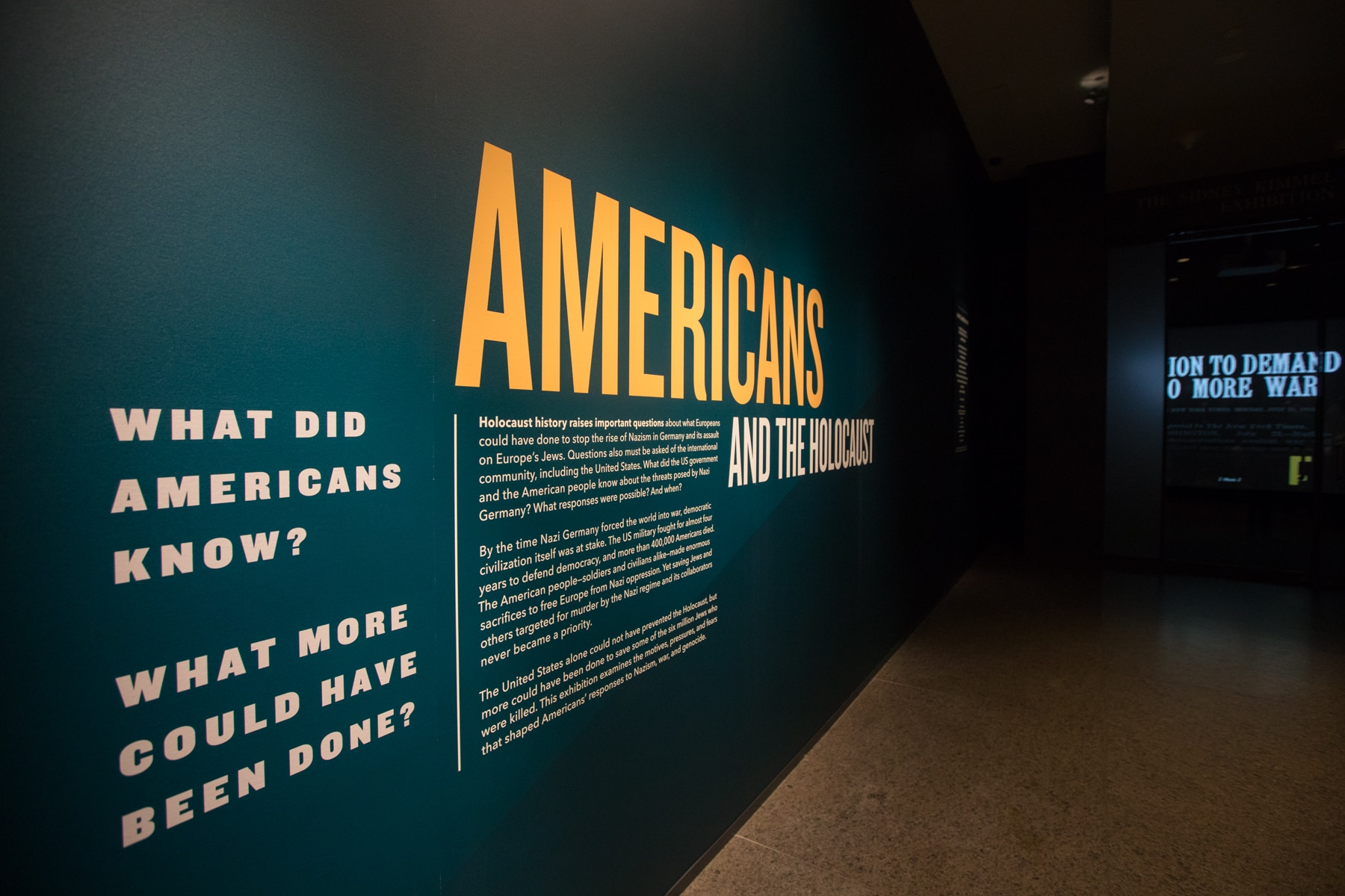 """What Did Americans Know? (Photo courtesy the U.S. Holocaust Memorial Museum from the """"Americans and the Holocaust"""" museum and online exhibits)"""
