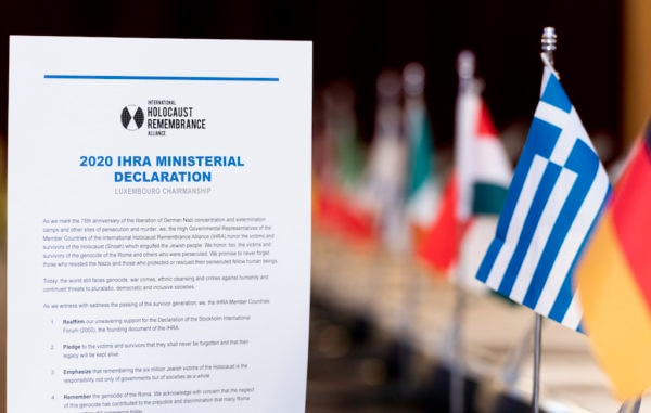 On January 19, 2020, the United States joined other nations in endorsing the International Holocaust Remembrance Alliance 2020 Ministerial Declaration, which pledged each country to fight the rise in anti-Semitism and other forms of discrimination; confront Holocaust distortion and denial; and encourage historically accurate Holocaust education, remembrance, and research.
