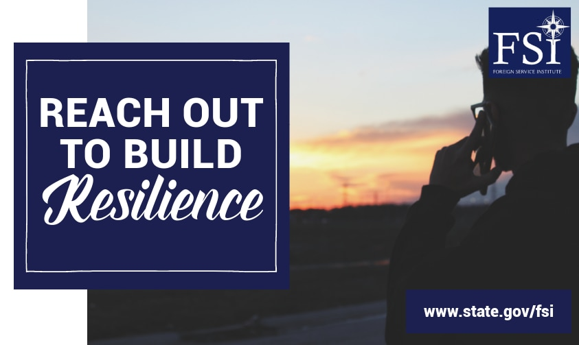 "Graphic the text ""Reach Out to Build Reslience"""