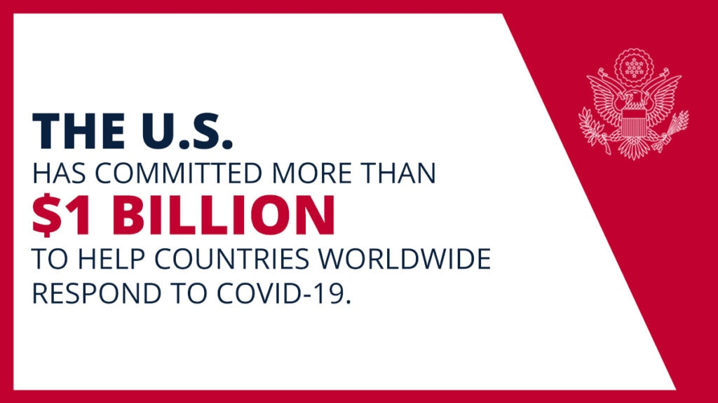 The U.S. has committed more than $1 billion to help countries worldwide respond to COVID-19.