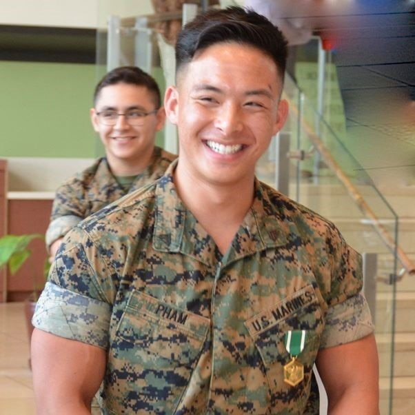 Marine Cpl. Aaron Pham was awarded the U.S. Navy and Marine Corps Commendation Medal for heroism at U.S. embassy Monrovia on November 12, 2019. (U.S. Department of State photo)