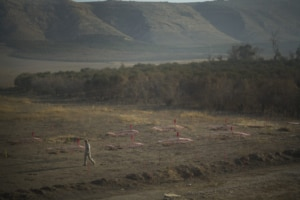 ISIS landmines blocking agricultural development in northern Iraq. (Photo courtesy of MAG)