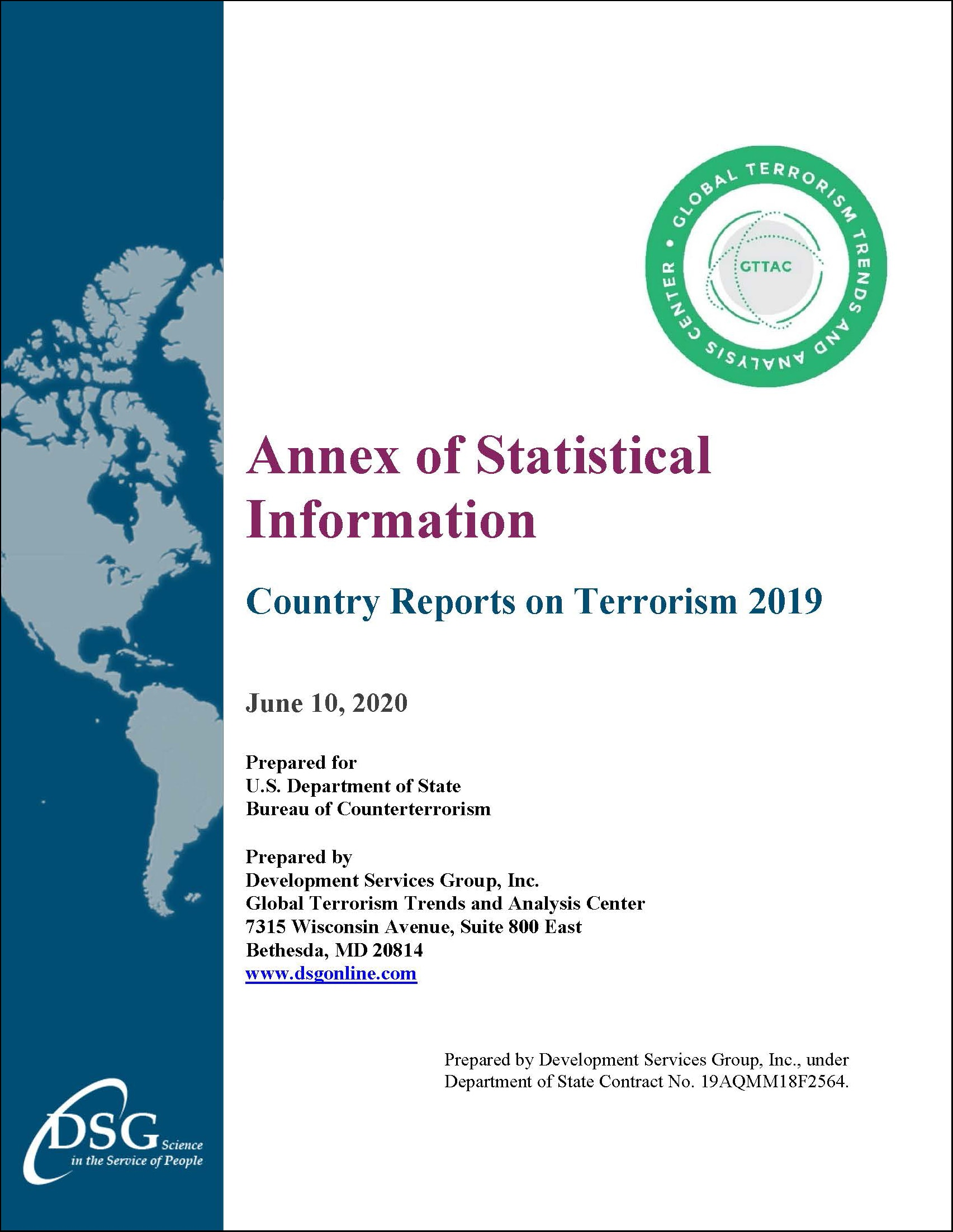 Annex of Statistical Information Report Cover
