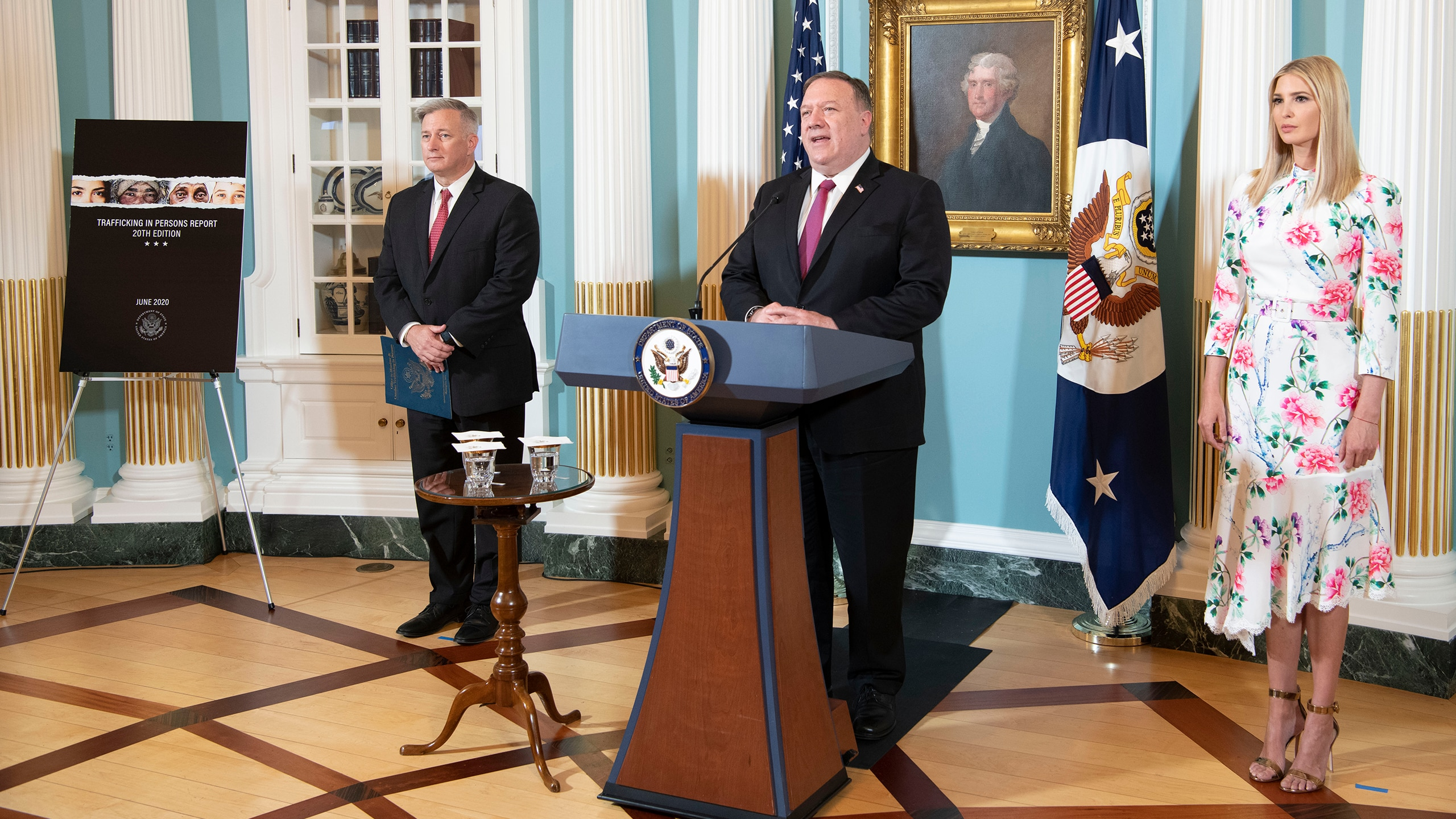 Secretary of State Michael R. Pompeo delivers remarks on the virtual release of the 2020 Trafficking in Persons Report