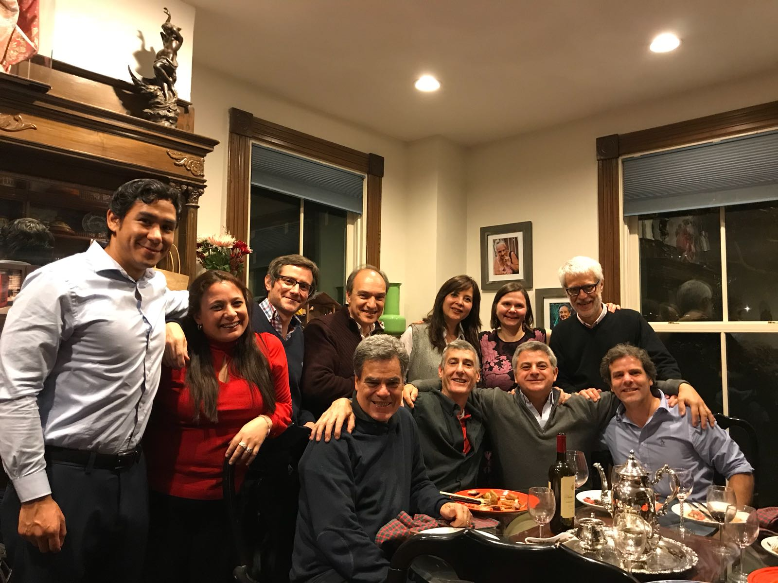 IVLP participants from Argentina enjoy an evening of home hospitality. (Photo courtesy of Meridian International Center)