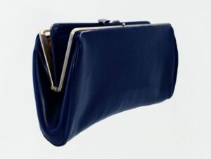Image of blue clutch.