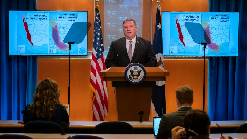 Secretary Pompeo delivers remarks to the media in the Press Briefing Room on July 8, 2020. [State Department Photo by Ronny Przysucha / Public Domain]