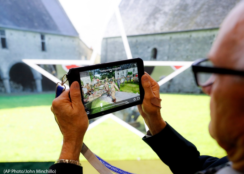 Augmented reality applications overlay computer-generated information on top of real environments.
