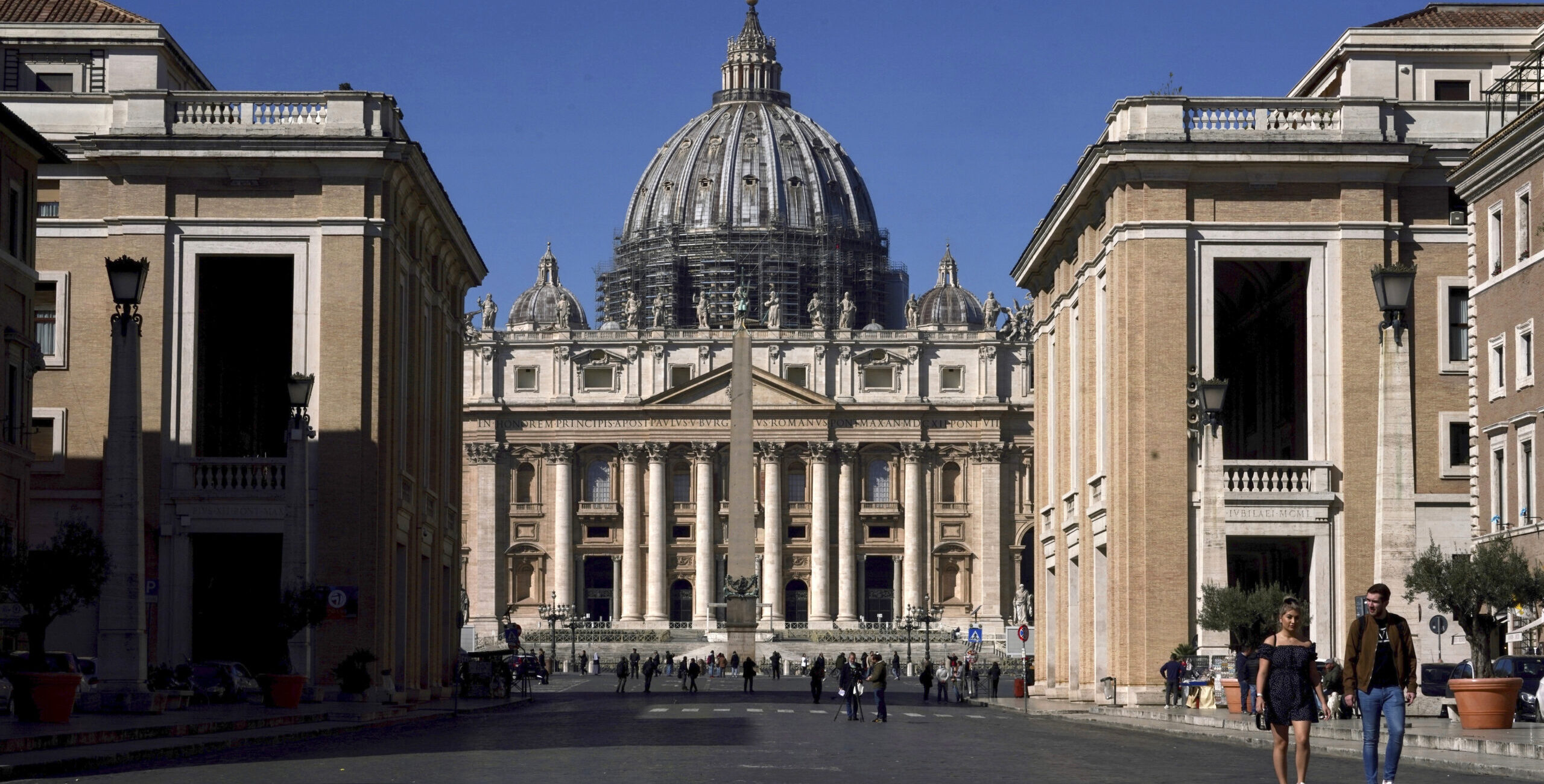 A view of St. Peter's Basilica at the Vatican, Wednesday, March 11, 2020. [AP Image]