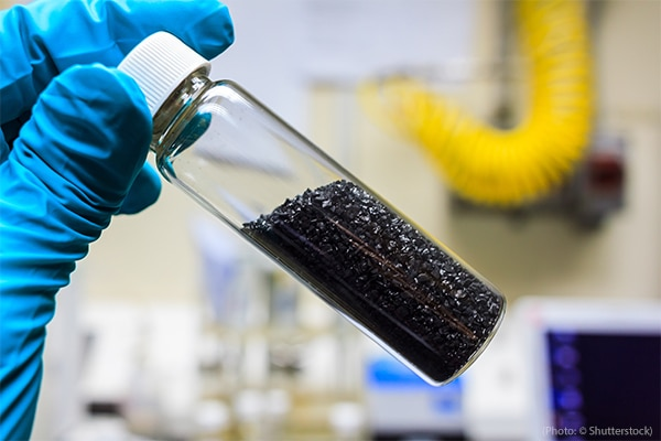 Catalysts, like the activated carbon pictured here, lower the amount of energy needed to start a chemical reaction.