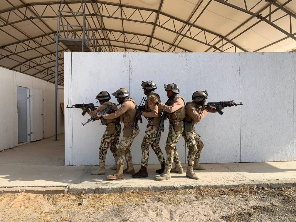 Nigerian troops in Thiès, Senegal for the FLINTLOCK 2020 exercise