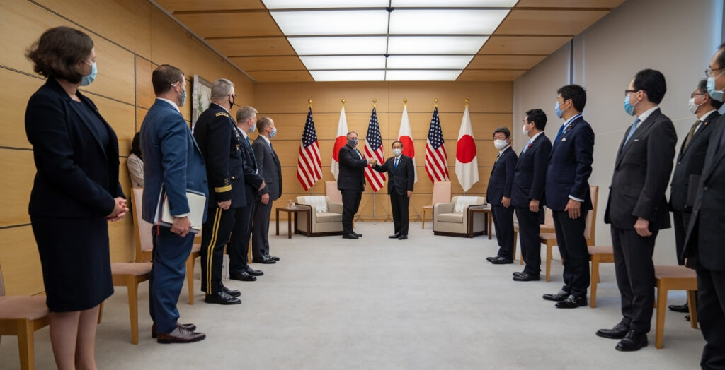 Secretary Pompeo meets with Japanese Prime Minister Yoshihide Suga.