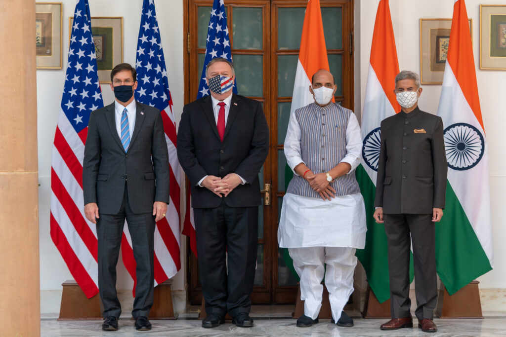 In New Delhi, Secretary Pompeo and Secretary of Defense Mark T. Esper and their Indian counterparts led the third annual U.S.-India 2+2 Ministerial Dialogue.