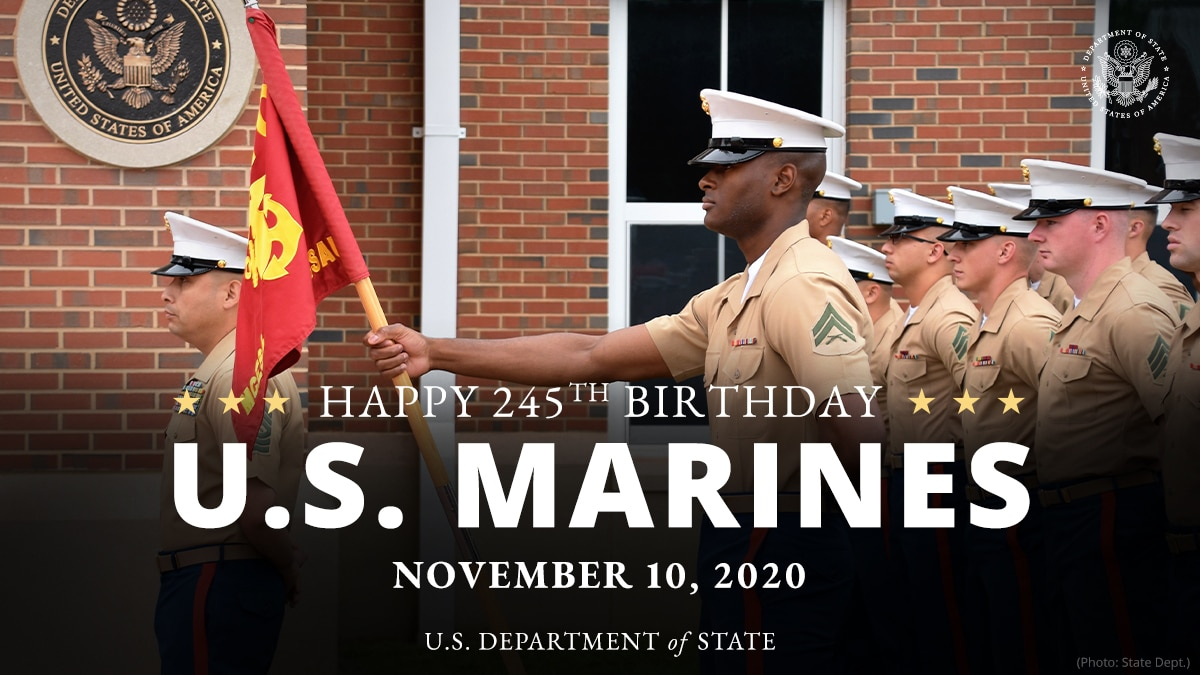 State Department Celebrates Marine Corps' 245th Anniversary