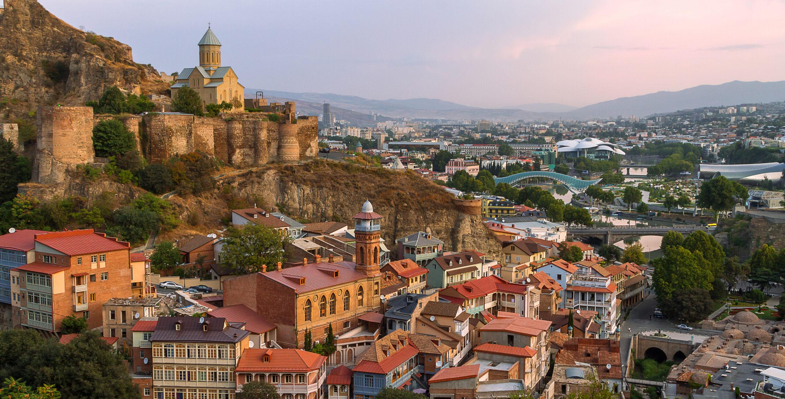 Skyline of Tbilisi and Narikala Castle, Tbilisi, Georgia. [Shutterstock Image]