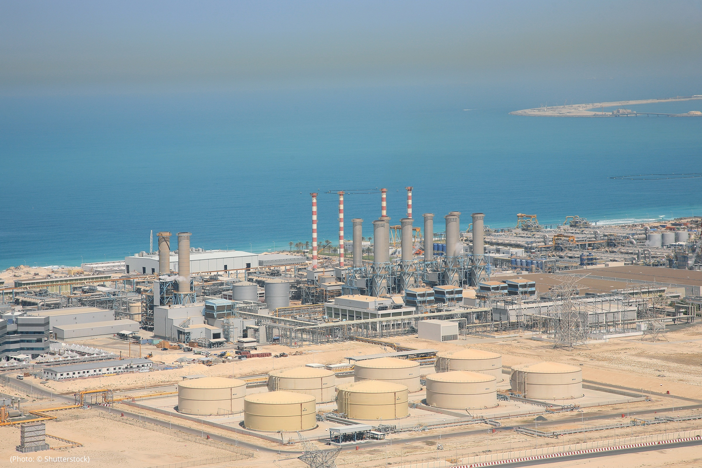 Desalination plants, like this one in Dubai, can convert saltwater into freshwater that is safe for human consumption and agriculture. (Photo: © Shutterstock)