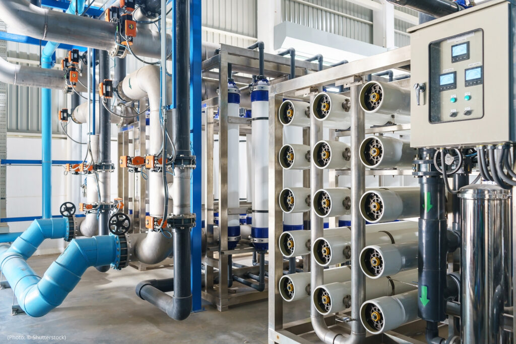 Reverse osmosis-based facilities accomplish desalination by pushing saltwater through a porous membrane.