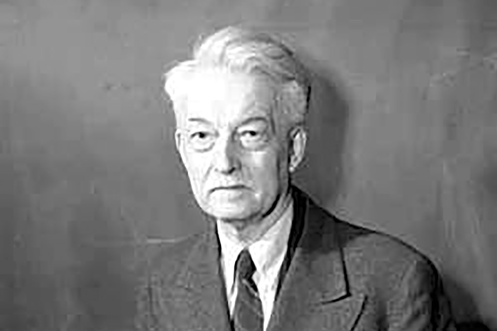 Photo showing French Thomist Jacques Maritain, one of the most highly regarded philosophers of the 20th Century, who had a role in shaping the Universal Declaration of Human Rights, imbuing it with intellectual depth and rigor not common in modern international affairs pronouncements.