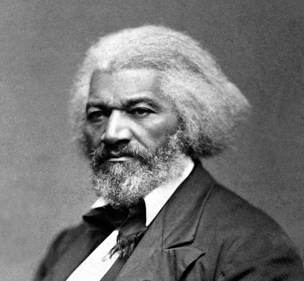 Photo showing Frederick Douglass who, though born a slave, through the power of his oratorical gifts became an important influence on his countrymen, including President Abraham Lincoln, in winning recognition of the unalienable rights of black Americans, both before and after the abolition of slavery.