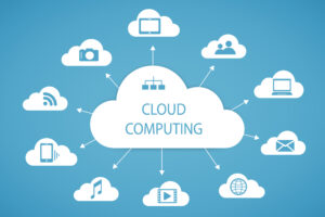 Cloud computing technology abstract scheme eps10 vector illustration [shutterstock]
