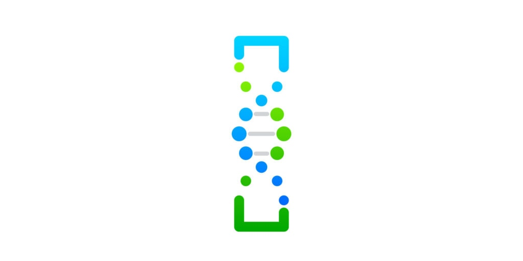 Letter I Green and Blue with abstract biotechnology logotype,Technology DNA vector concept [shutterstock]