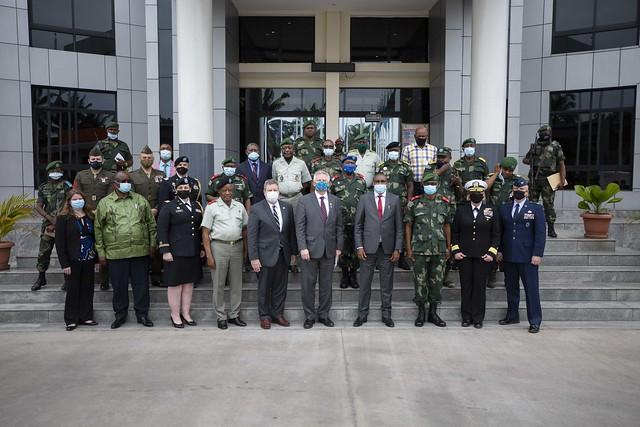 Ambassador Young, and Director of Intelligence Berg visit the DRC in January 2021. (Photo courtesy of Embassy Kinshasa)