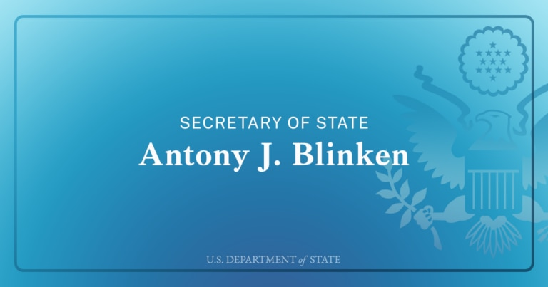 Secretary of State Antony J. Blinken U.S. Department of State