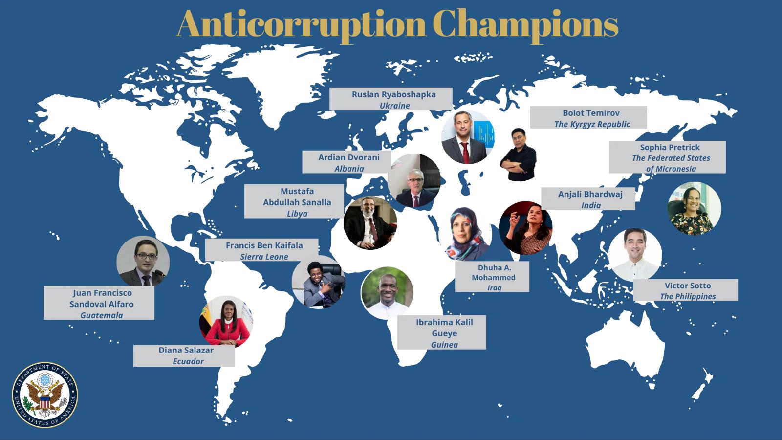 U.S. Department Of State Recognizes Anticorruption Champions