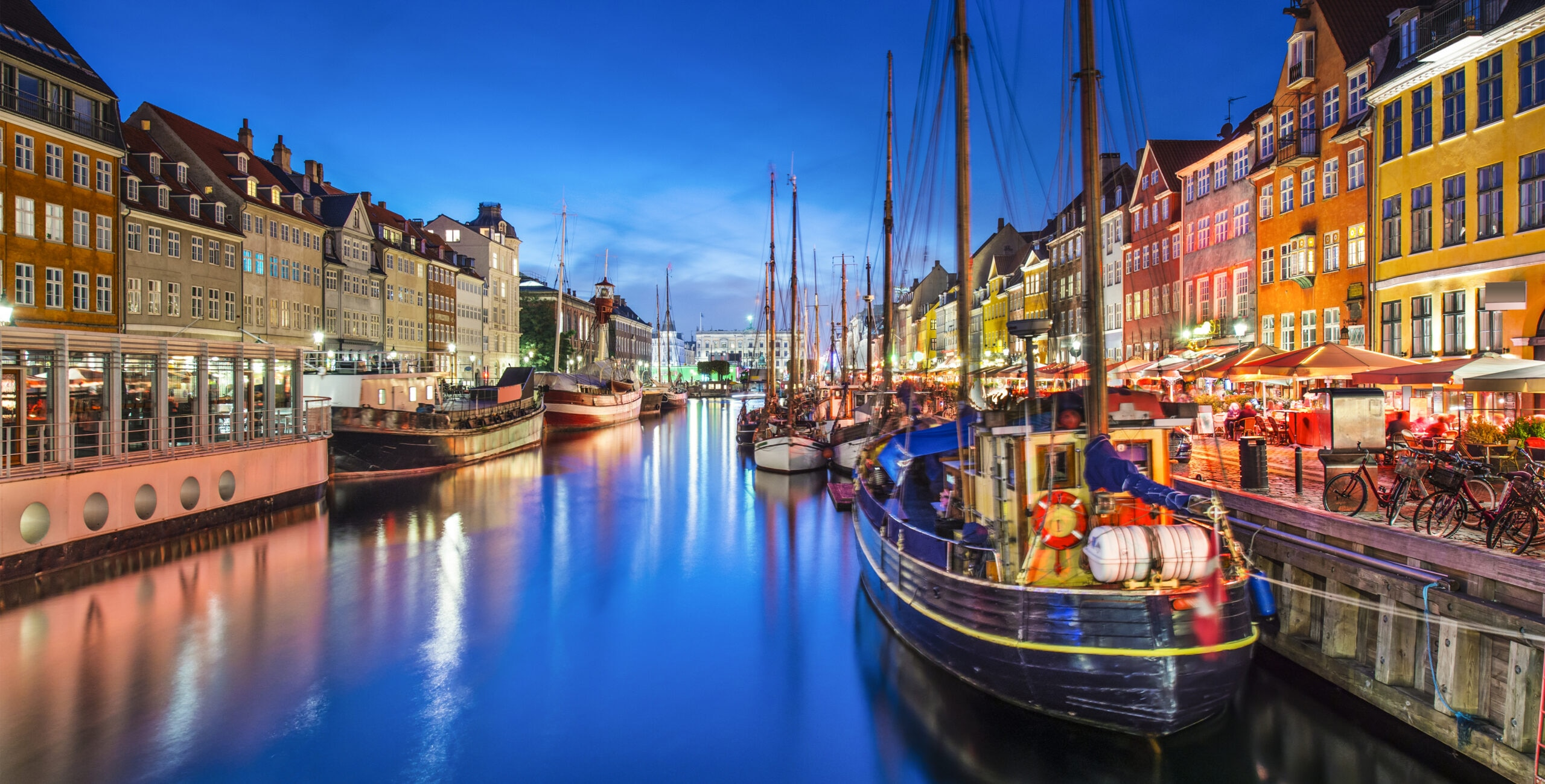 Copenhagen, Denmark on the Nyhavn Canal. [Shutterstock image]