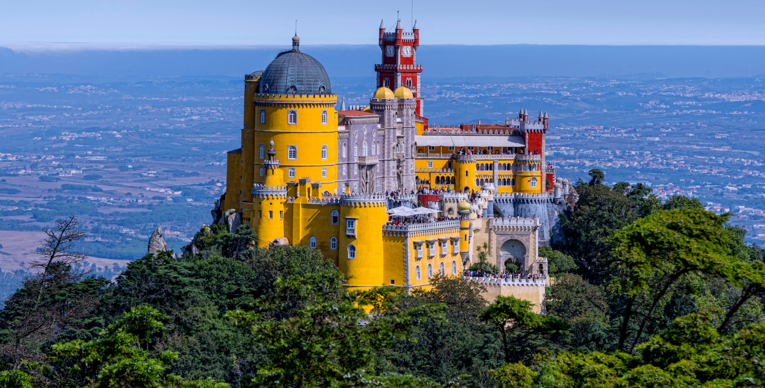 Panoramic view of the Pena Palace. Sintra, Portugal. [Shutterstock image]