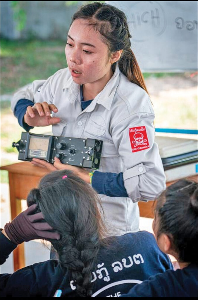 Malaythong Khodsisa is a training officer with HALO Laos. [Photo courtesy of HALO]