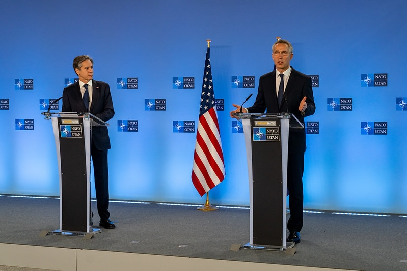 Secretary Blinken Gives Open Remarks at NATO With Secretary General Jens Stoltenberg