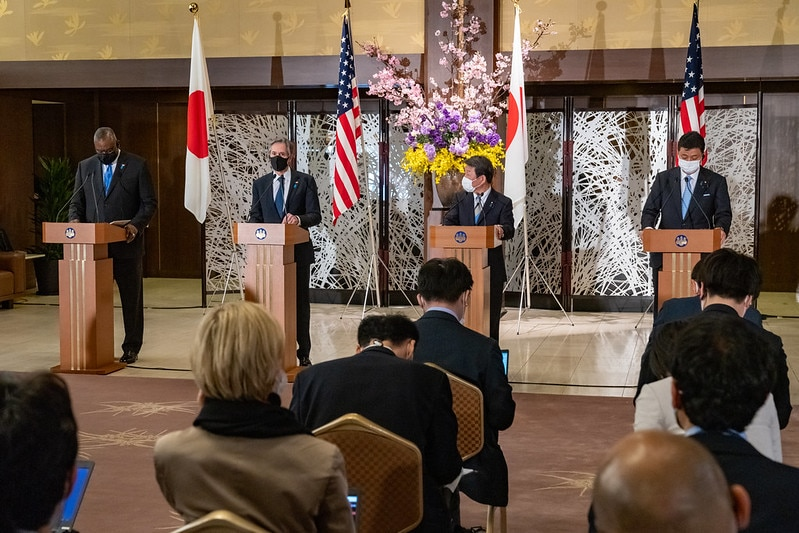Secretary Blinken, Secretary Austin, Japanese Foreign Minister Motegi, and Japanese Defense Minister Kishi Hold a Joint Press Availability