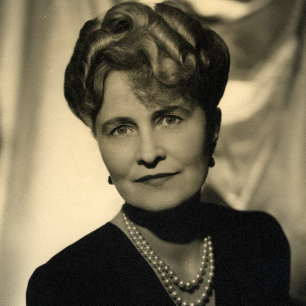 Marjorie Merriweather Post, circa 1945. Hillwood Estate, Museum, and Gardens Archives.