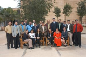 "The participants of the ""Promotion of Civil Society and Democratic Institutions"" IVLP, circa 2003. (Photo courtesy of interpreter Brian Ross)"