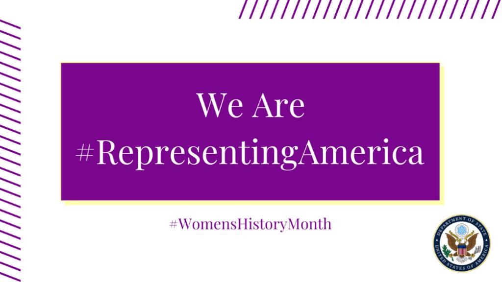 Graphic: We Are #RepresentingAmerica #WomensHistoryMonth