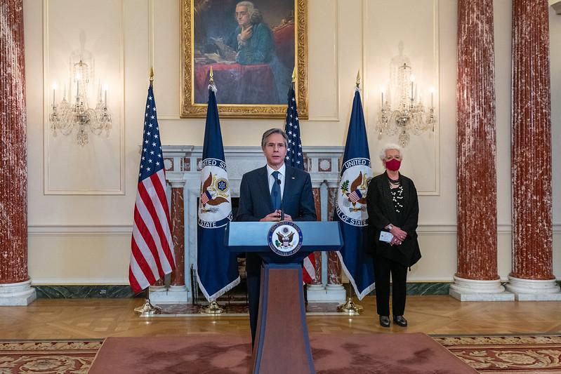 Secretary Blinken Delivers Remarks on the COVID-19 Response