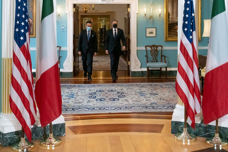 Secretary Blinken Meets With Italian Foreign Minister Di Maio