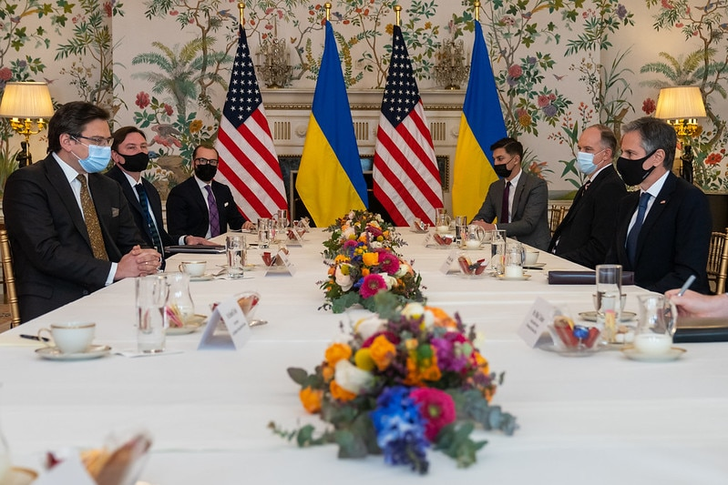 Secretary Blinken Meets With Ukrainian Foreign Minister Kuleba in Brussels