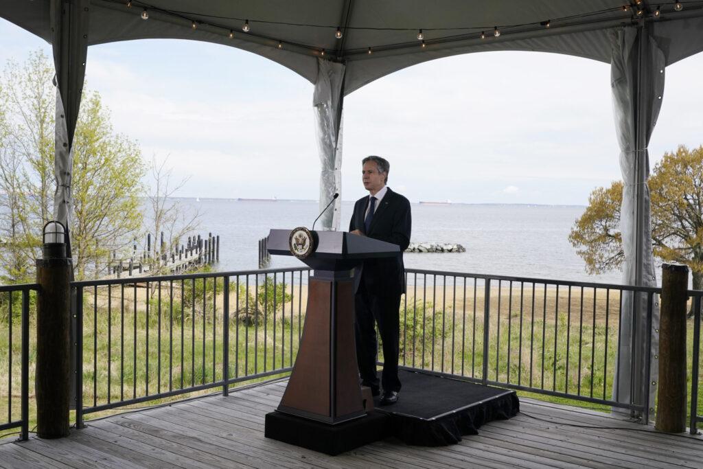 Secretary of State Antony Blinken at the Chesapeake Bay Foundation