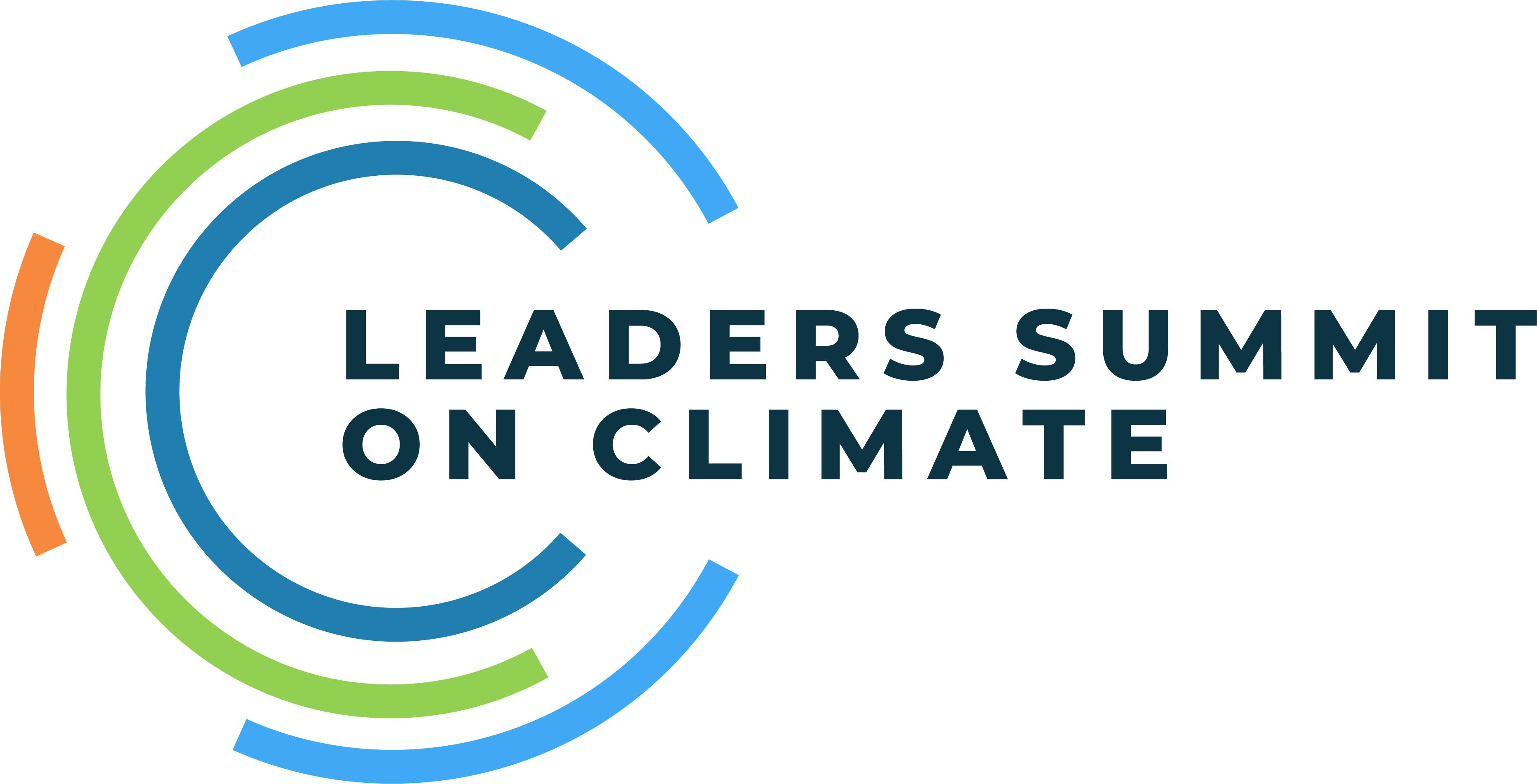 Leaders Summit On Climate Logo Full Color RGB